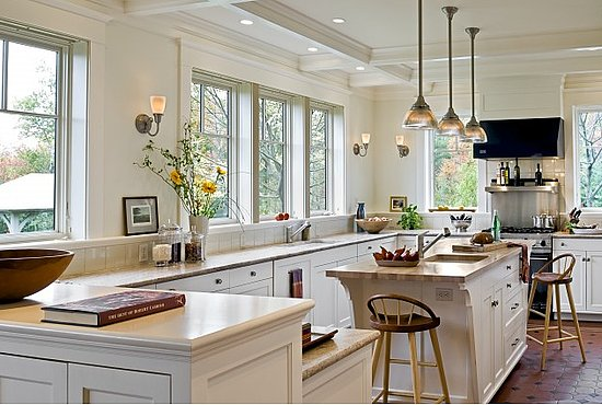 modern white country kitchen house of anas